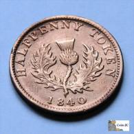 Canada - Nova Scotia - Half Penny - 1840 - Canada