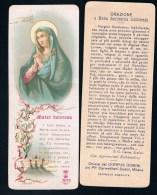 S182-Santino Mater Dolorosa Formato Segnalibro Lega N.35 Holy Cards - Religión & Esoterismo