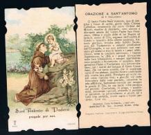 S185-Santino S. Antonio, Lega Eucaristica Serie N.9040 Holy Cards - Religion & Esotérisme