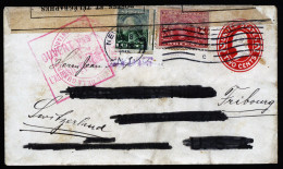 A3072) US Cover From New York 08/18/1915 To Switzerland With 2x Censorship - Vereinigte Staaten