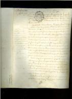 Bail à Rente Du 9 Juin 1766 Sur Peau 4 Pages - Cachet Gen.d´Orléans Vingt Sols - Manuscripts