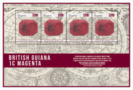 GUYANA  IGPC # 1441 SH ; MINT N H STAMPS OF RAREST & MOST FAMOUS STAMP BRITISH GUIANA 1c MAGENDA - Guyana (1966-...)