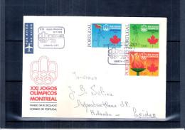 FDC Portugal Envoyé Vers Hollande - JO 1976 Montréal - Série Complète (à Voir) - Ete 1976: Montréal