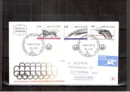 FDC Israel Envoyé Vers Hollande - JO 1976 Montréal - Série Complète (à Voir) - Ete 1976: Montréal