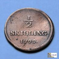 Suecia - 1/2 Skilling - 1799 - Suède