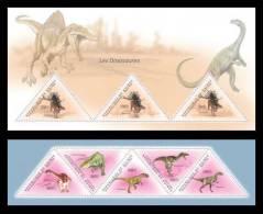 GUINEA 2011 - Dinosaurs - YT 5699-5703 + BF1251; CV = 47.80 € - Prehistorisch