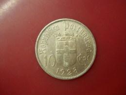 PORTUGAL 10 ESCUDOS 1928 COMEMORAÇÃO DA BATALHA DE OURIQUE SILVER - Portogallo
