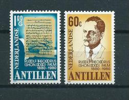 1981 Netherlands Antilles Complete Set R.Th.Palm MNH,Postfris,Neuf Sans Charniere - Curaçao, Nederlandse Antillen, Aruba