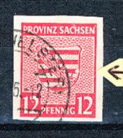 SBZ. Provinz Sachsen Michel Nr. 66 X IV Oberrandstück H In SACHSEN Beschädigt (Michel Euro 7,50) ++ Postfrisch - Zone Soviétique