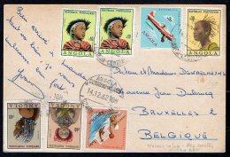 Portugal - Carte Potale Angola - Avion - 1962 - Belgique - B1 - Angola