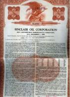 X CERTIFICATO AZIONARIO Sinclair Oil Corporation 1986 - Automobilismo