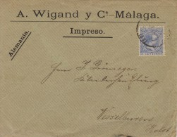 Spain; Cover To Germany 1889 - 1889-1931 Reino: Alfonso XIII