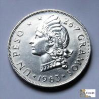 República Dominicana - 1 Peso - 1963 - Dominicaine