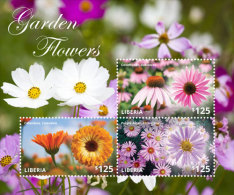 LIBERIA  IGPC # 1435 SH ; MINT N H STAMPS OF NATIONAL GARDEN FLOWERS - Liberia