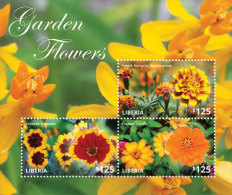 LIBERIA  IGPC # 1436 SH ; MINT N H STAMPS OF NATIONAL GARDEN FLOWERS - Liberia