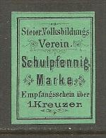 �sterreich Austria Schulpfennigmarke Steiermark Volksbildungsverein