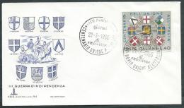 1966 ITALIA FDC CAPITOLIUM UNIONE ALL'ITALIA NO TIMBRO ARRIVO - EDG28 - 6. 1946-.. Repubblica