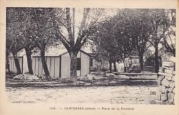AISNE HARTENNES PLACE DE LA FONTAINE - Autres Communes
