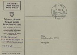 Militärsache Hinweil 06.09.1966 Am Bachtel Feldposst PI. Kdo. Rapperswil - Servizio