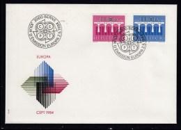 Schweiz  MiNr.  1270 /  1271  Illustr.   Ersttagsbrief / FDC    CEPT Ausgabe 1984 - FDC