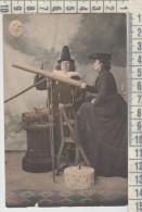 Astronomia Telescopio Illustrata Rara Cartolina - Astronomia