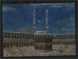 Saudi Arabia Silver Picture Postcard Holy Mosque Ka´aba Macca Islamic Islam Post Card - Arabia Saudita