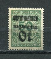 Germany 1923 Sc 315A Inverted Overprint MH Numerical  Signed 2X - Allemagne