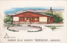 "AGRIGENTO /  Camping - Albergo Della Gioventù "" AKRAGAS "" _ Viaggiata - Agrigento"