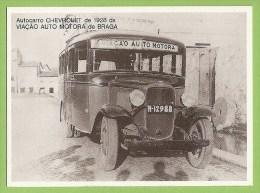 Braga - Calend�rio da Via��o Auto Motora - Chevrolet, Old Cars. Vintage Car. Automobile. Voiture. Carro Antigo. Autom�ve