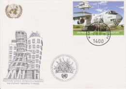 United Nations Show Card ´Sbératel´ - September 2010 - UN Transport - Airplane - Mi 678-679 - 2010 - Centre International De Vienne