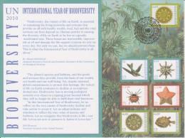 United Nations Special Card With Mi 643 International Year Of Biodiversity Cancellation Vienna - 2010 - Centre International De Vienne