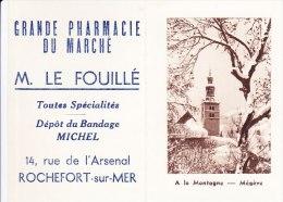 rare mini calendrier  poche 1949 TBE grande pharmacie du march� M. Le Fouill� 14 rue de l�Arsenal 17 Rochefort sur mer