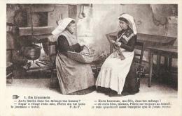 En Limousin - Es-tu Heureuse, Ma Fille? - Scène De Vie Quotidienne à La Ferme - Carte L'Hirondelle - Europe