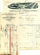 Facture Et Lettre De Change - ECOMMOY - Grande Briqueterie Mécanique - DESNOS FRERES - 1900 – 1949