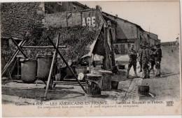 Les Americains En France  Un Campement Bien Aménagé - Guerre 1914-18