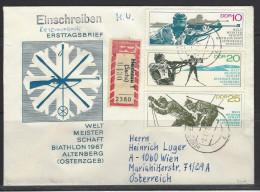 DDR  RECO - Beleg Mi-Nr. 1251 - 1253 Biathlon-Weltmeisterschaften Altenberg - DDR