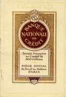 Petit Calendrier - 1923 - BANQUE NATIONALE De CREDIT - - Petit Format : 1921-40