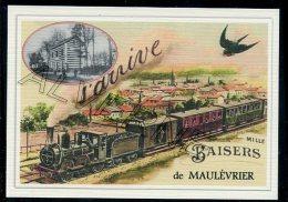 49  MAULEVRIER  -  ...    ....  TRAIN  ..souvenir  Creation Moderne Série  Numerotée 1 à 10 ... N° 4/10 - France