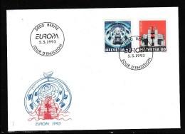 Schweiz MiNr. 1499 / 1500 Illustr. Ersttagsbrief /FDC       EUROPA/CEPT  Ausgabe 1993 - FDC