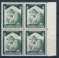 Deutsches Reich Michel No. 566 ** postfrisch Viererblock