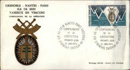 29 - ILE DE SEIN - Enveloppe Premier Jour - Compagnons De La Libération - Guerre 39-45 - Militaria