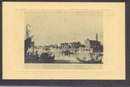 9366-LA LAGUNA DI VENEZIA-PORTO SECCO SUL LIDO DI PELLESTRINA-DA INCISIONI DEL 1700-FP - Venezia
