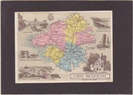 Département De La Loire Inferieure - Nantes Saint-nazaire Clisson Batz - Chromo Hachette - Dim 8.5 X 11.5 Cm - Trade Cards