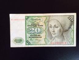 20  Deutsche Mark - [ 6] 1949-1990 : RDA - Rép. Dém. Allemande