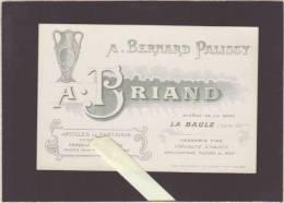 A. Bernard Palissy, A.Briand, Avenue De La Gare, La Baule - Porcelaine Décorée - Carte Publicitaire - Advertising