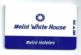 ESPAÑA HOTEL MELIA WHITE HOUSE  Llave Clef Key Keycard Karte - Hotel Labels