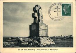 29 - ILE DE SEIN - Monument Aux Morts - Compagnons De La Libération - Guerre 39-45 6 CARTE PREMIER JOUR - Ile De Sein