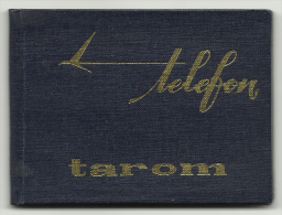 Romanian Air Transport, Tarom, Notebook For Phone Numbers, '70s. - Documentos Antiguos