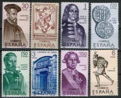 ESPAÑA 1966 - FORJADORES DE AMERICA - EDIFIL 1750-1757 - YVERT 1405-1412 - 1931-Aujourd'hui: II. République - ....Juan Carlos I