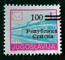 REPUBLIQUE SERBE DE BOSNIE (PALE) - SURCHARGE 1992 - NEUF ** - YT 6 - MI 6II - Bosnie-Herzegovine